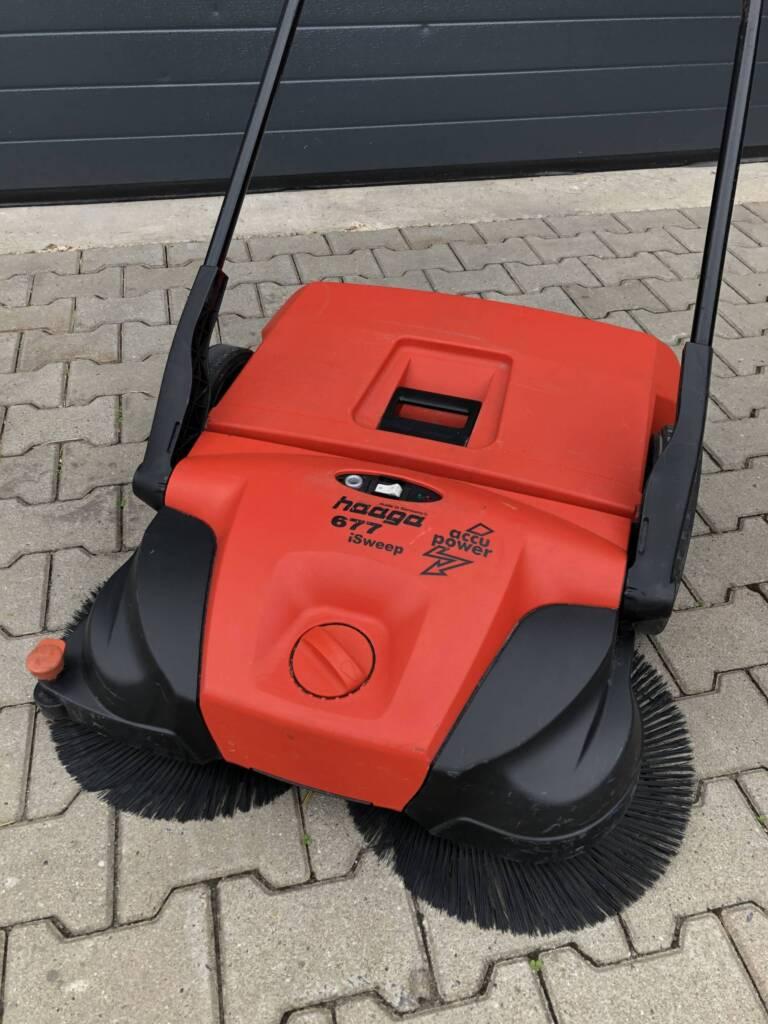 Haaga veegmachine 677 met accu