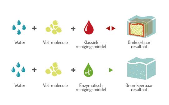 enzymatisch reinigen vs chemisch reinigen